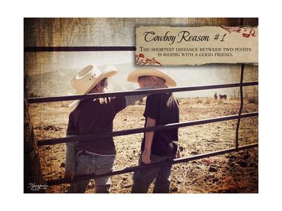 Cowboy Reason I Posters by Shawnda Craig