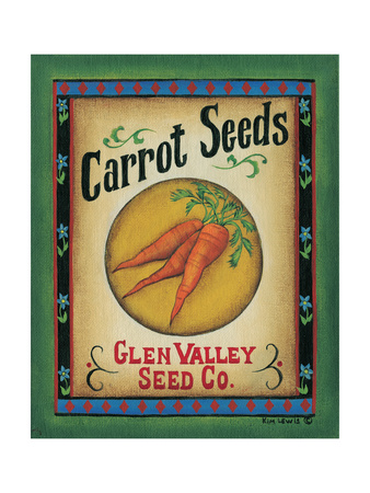 Carrot Seeds Poster by Kim Lewis