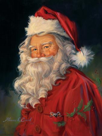Santa Art by Susan Comish