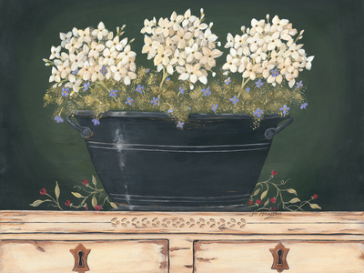Floral with Hydrangea Prints by Jo Moulton