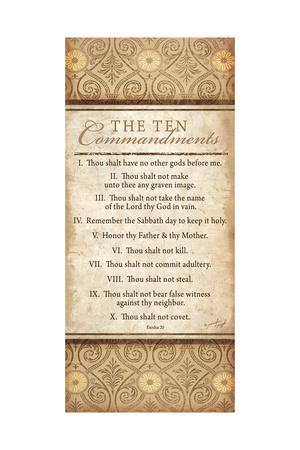 The Ten Commandments Poster by Jennifer Pugh