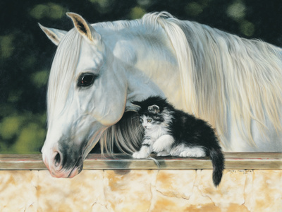 Making Friends Print by Leslie Harrison