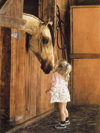 Little Visitor Print by Leslie Harrison