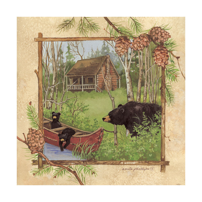 Black Bears I Art by Anita Phillips