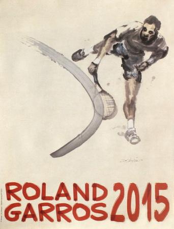 Roland Garros, 2015 Collectable Print by Du Zhenjun