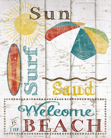 Sun, Surf & Sand Posters by Katrina Craven