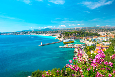 Nice City, French Riviera, Mediterranean Sea Photographic Print by  LiliGraphie
