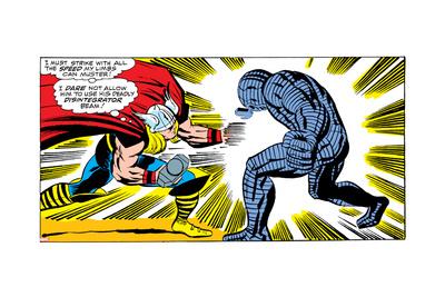 Marvel Comics Retro Style Guide: Thor, Destroyer Print