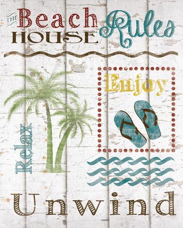 Beach House Rules Prints by Katrina Craven
