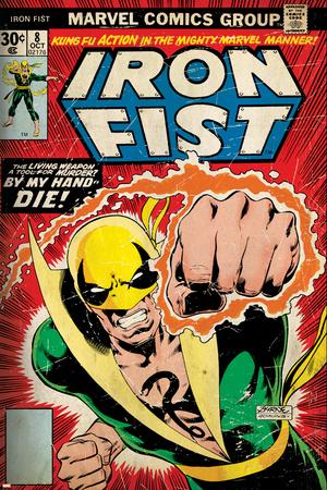 Iron Fist Retro Style retro style comic book cover art