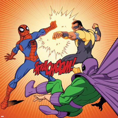 Ultimate Spider-Man Style Guide: Spider-Man, Power Man, Prowler Posters
