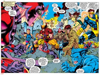 X-Men Forever Alpha No. 1: X-Men No. 2: Psylocke, Wolverine, Gambit, Cyclops, Rogue, Beast Print