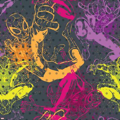 Ultimate SpiderMan - Spring Summer Trend Patterns Poster