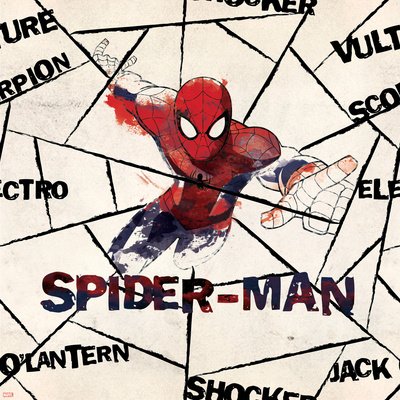 Ultimate SpiderMan - 2014 Villains Design Elements - Patterns Prints