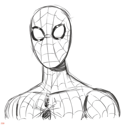 Ultimate SpiderMan - Animation 2014 Storyboard Sketches Prints