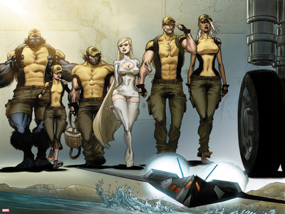 Astonishing X-Men: Xenogenesis No. 1: Beast, Armor, Wolverine, Frost, Emma, Cyclops, Storm Posters