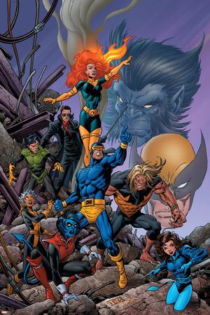 X-Men Forever No. 24: Rogue, Kitty Pryde, Storm, Cyclops, Sabretooth, Gambit, Phoenix Photo