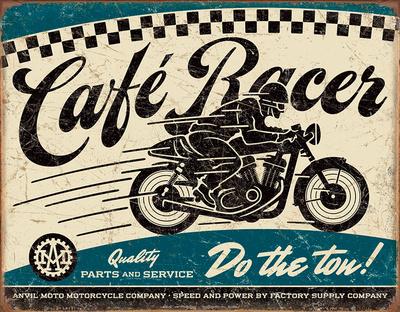 Café Racer Tin Sign