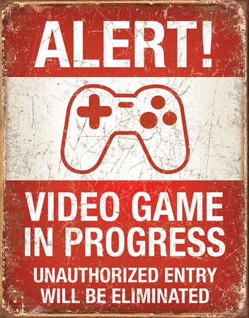 Video Game in Progress Blikskilt
