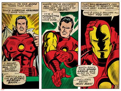 Marvel Comics Retro Style Guide: Iron Man Print