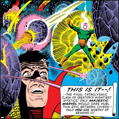 Marvel Comics Dormammu - Panel Art Photo