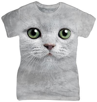 Juniors: Green Eyes Face T-shirts