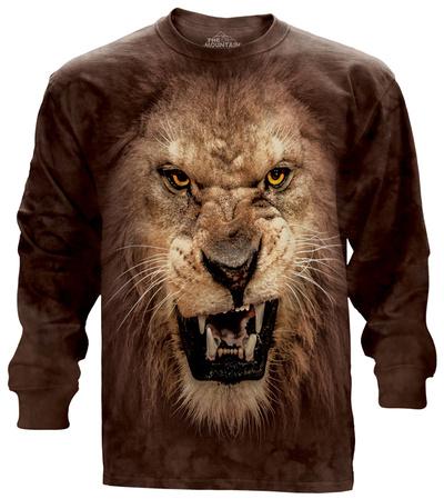 Long Sleeve: Big Face Roaring Lion Long Sleeves