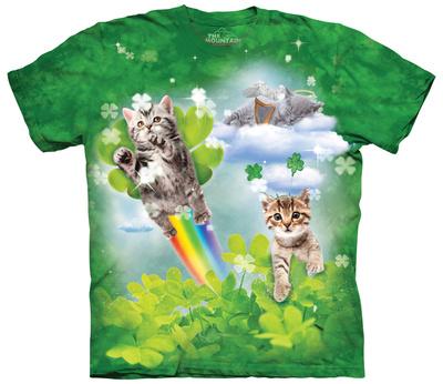 Green Irish fairy kittens, funny St. Patrick's Day t-shirt
