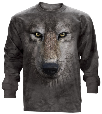 Long Sleeve: Wolf Face Long Sleeves