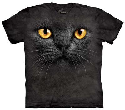 Youth: Big Face Black Cat Tシャツ