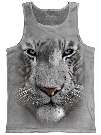 Tank Top: White Tiger Face Tank Top