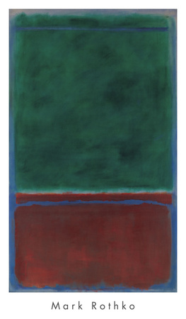 No. 7 (Green and Maroon), 1953 Posters by Mark Rothko