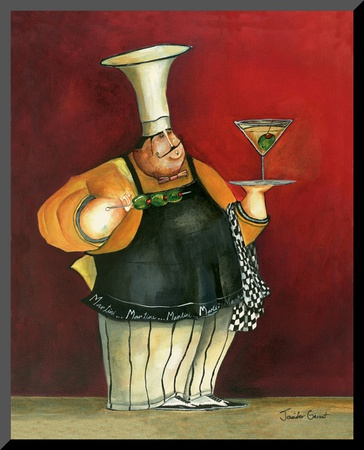 Martini For You Mounted Print by Jennifer Garant
