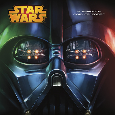 Star Wars Trilogy Darth Vader face 2016 calendar home office science fiction gift merchandise