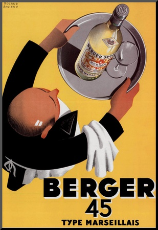 Berger 45 Mounted Print by Roland Ansieau