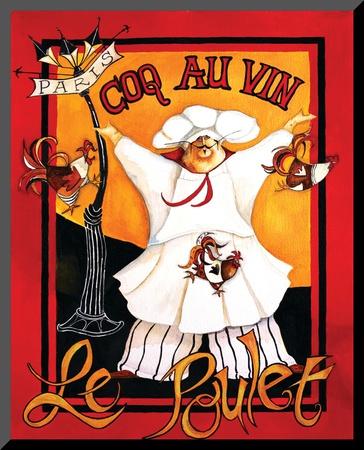 Coq Au Vin Mounted Print by Jennifer Garant