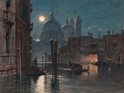 Venice under Moonlight, 1869 ジクレープリント : カラヴァッジョ
