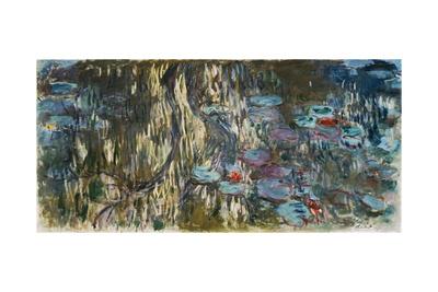 Nymphéas (Reflets De Saule), 1916-1919 Giclee Print by Claude Monet