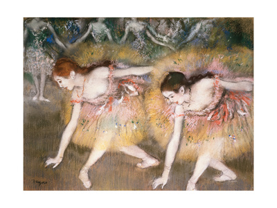 Dancers Bowing, 1885 Giclee Print by Edgar Degas