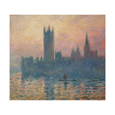 The Houses of Parliament, Sunset, 1903 Giclee Print by Claude Monet