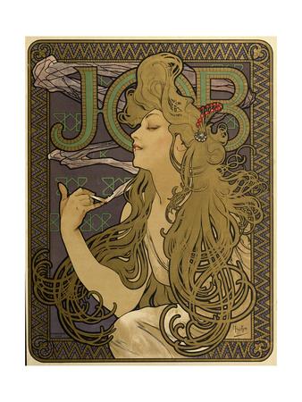 JOB Cigarettes, c. 1897 Giclee Print by Alphonse Mucha