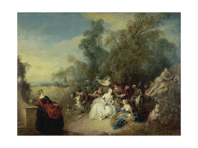 Relaxation in the Country (Les Délassements De La Campagne) Giclee Print by Jean Baptiste Francois Pater