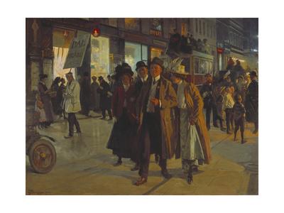 Frederiksborggade, Copenhagen, 1912 Giclee Print by Erik Henningsen