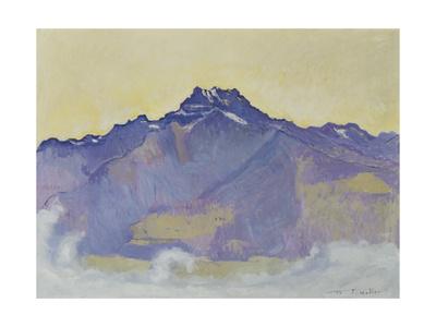 The Dents Du Midi, Viewed from Chesieres, 1912 Gicléetryck av Ferdinand Hodler