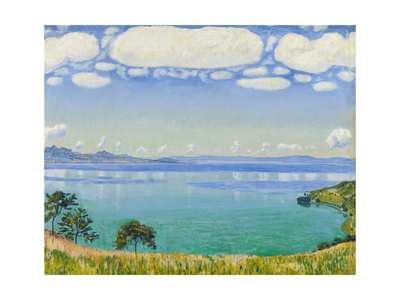 Lake Geneva Seen from Chexbres, 1905 Gicléetryck av Ferdinand Hodler