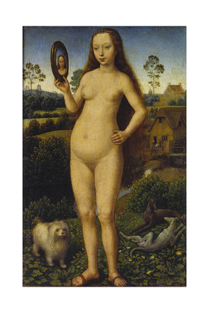 Allegory of Vanity, Left Panel of a Travel Altar Giclee Print by Hans Memling