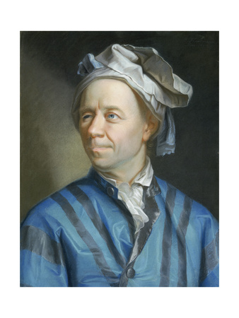 Portrait of the Mathematician Leonhard Euler Giclee Print by Emanuel Handmann