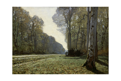 The Road to Chailly (The Forest of Fontainebleau), C. 1865 Giclee Print by Claude Monet