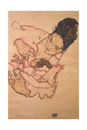 Nursing Mother (Stephanie Gruenwald), 1917 Giclee Print by Egon Schiele