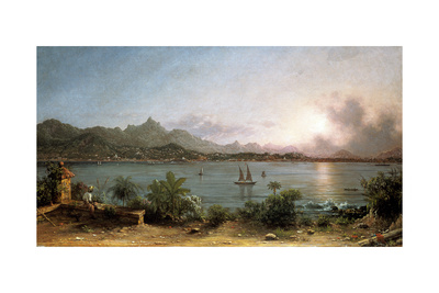 The Harbour at Rio De Janeiro, 1864 Giclee Print by Martin Johnson Heade